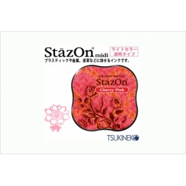 Ink Pad StazOn Midi - Cherry Pink