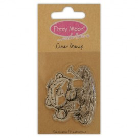 Clear Stamp - Fizzy Moon / Planting, 4,7 x 5,5 cm