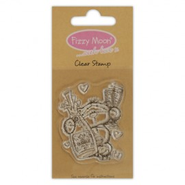 Clear Stamp - Fizzy Moon / Champagne , 4,5 x 5,5 cm