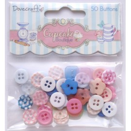 Cupcake Boutique - Mini Buttons, 50 pcs.