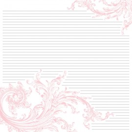 Teresa Collins - Timeless Collection - Pink Journal, 30x30 cm