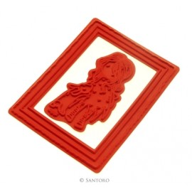 Santoro's Gorjuss - Urban Stamp - I Love You Little Rabbit, 2pcs. 13,5 x 17,2 cm