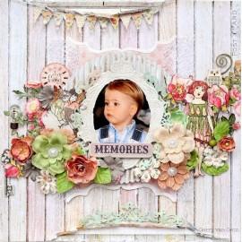 Prima Marketing Inc. - Fairy Rhymes Collection - Sweet Briar, 30x30 cm