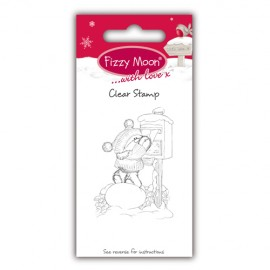 Clear Stamp - Fizzy Moon Christmas / Post Letter, 4,2 x 5,8 cm
