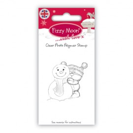 Clear Stamp - Fizzy Moon Christmas / Snowman, 4,4 x 4,5 cm