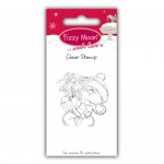 Clear Stamp - Fizzy Moon Christmas / Poinsettia, 4,5 x 4,5 cm