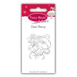 Clear Stamp - Fizzy Moon Christmas / Poinsettia, 4,5 x 4,5 cm