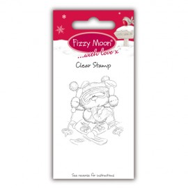 Clear Stamp - Fizzy Moon Christmas / Skiing, 4,7 x 5,2 cm