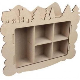 MDF 3D Collection Box Frame Winter, 4 mm 27,6 x 20,8 x 5,8 cm