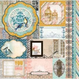 Bo Bunny - The Avenues Collection - Treasures, 30x30 cm