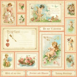 Graphic 45 - Sweet Sentiments Collection - Be My Valentine, 30x30 cm