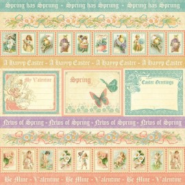 Graphic 45 - Sweet Sentiments Collection - Spring has Sprung, 30x30 cm