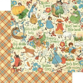 Graphic 45 - Mother Goose Collection - Nursery Rhymes, 30x30 cm