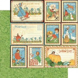 Graphic 45 - Mother Goose Collection - Storytime, 30x30 cm