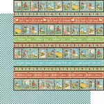 Graphic 45 - Mother Goose Collection - Playful Postage, 30x30 cm
