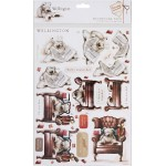 Papermania - A4 Decoupage Sheets - Wellington - Take It Easy, 2 pk