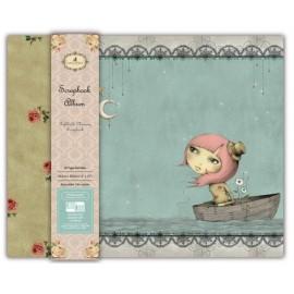 Santoro Mirabelle Fabric Scrapbook Album - Adrift, 30x30cm