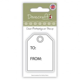 Clear Stamp - Gift Tag, 4,0x5,7 cm