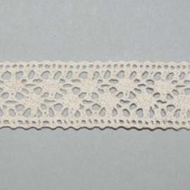 Cotton Lace 25mm Natural