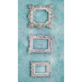 Shabby Chic Resin Collection Square Frame, 3 pcs.