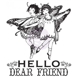 Clear Stamps - Princess, Hello Dear Friend, 6,3 x 7,6 cm