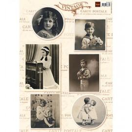 Marianne Design - A4 Cardtoppers Sheet - Vintage Children