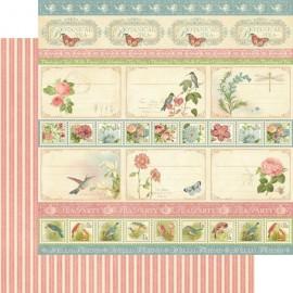 Graphic 45 - Botanical Collection - Hello Friend, 30x30 cm