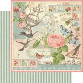 Graphic 45 - Botanical Collection - Botanical Tea, 30x30 cm