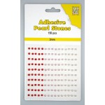 Adhesive Pearls, 3mm, 150 pcs,3 col. red