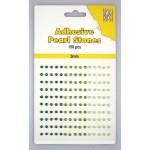 Adhesive Pearls, 3mm, 150 pcs,3 col. green