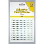 Adhesive Pearls, 3mm, 150 pcs,3 col. blue