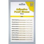 Adhesive Pearls, 3mm, 150 pcs,3 col. brown