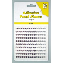 Adhesive Pearls, 4mm, 150 pcs,3 col. purple
