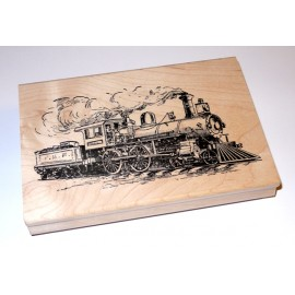 Tim Holtz / Stampers Anonymous - Rubber Stamp - TRAIN ENGINE