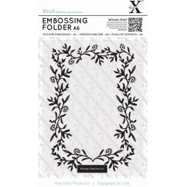 Embossing Folder - Foliage Frame, 10 x 15 cm