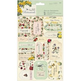 Die-cut Sentiments - Botanicals, A5/2 pk