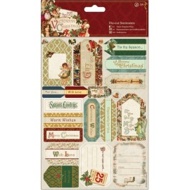 Die-cut Sentiments - Victorian Christmas, A5/2 pk