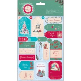 Die-cut Sentiments - Bellissima Christmas, A5/2 pk