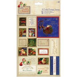 Foiled Postage Stamps - Letter to Santa, A5/2 pk