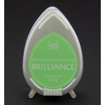 Brilliance Pigment Ink Pad - Pearlescent Lime, 3,5x5 cm