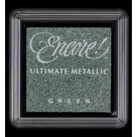 Encore! Ultimate Metallic - Small Ink Pad - Green, 33x33mm