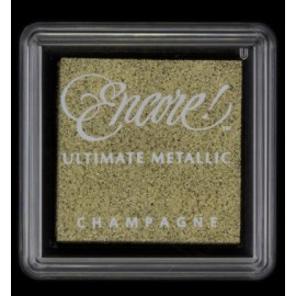 Encore! Ultimate Metallic - Small Ink Pad - Champagne, 33x33mm