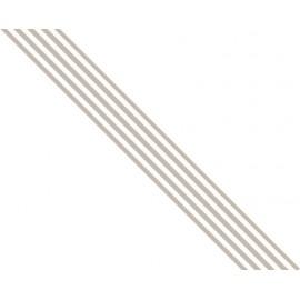 Old Cotton - Ribbon Stripes Brown, 1,5 cm x 3,05 mtr