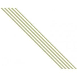 Old Cotton - Ribbon Stripes Green, 1,5 cm x 3,05 mtr