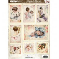 Studio Light - A4 Die Cut Cardtoppers Sheet - Romantic Picture nr.3