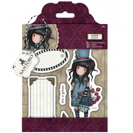 SANTORO® Rubber Stamps - The Hatter, 9 pcs.