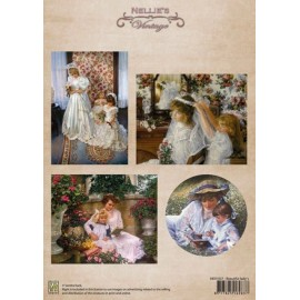 Nellie's Choice - A4 Cardtoppers Sheet - Nellie's Vintage - Beautiful Lady's