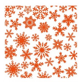 Embossing Folder - Ice Crystals, 12,0x12,3 cm