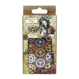 Willow Metal Charms - Cogs, 12 pcs.