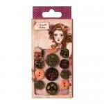 Willow Wooden Buttons, 12 pcs.